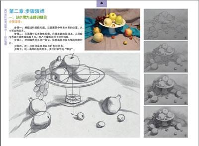 艺术出发 组合素描静物 王夏 编 绘画图片