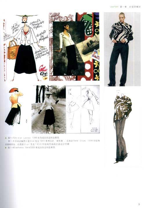 裙子下摆   四,款式图手绘步骤与方法