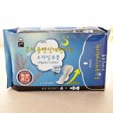 Eunjee/恩芝 韩国进口超长夜用卫生巾4片 正品无荧光剂防敏 179551