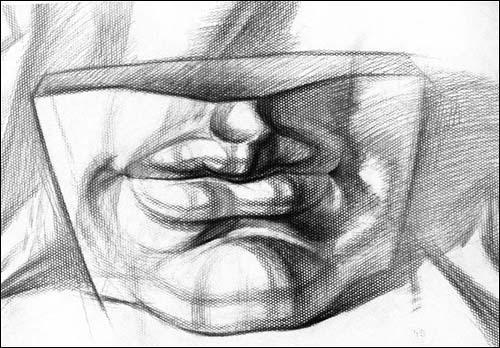 结构素描入门挂图/石膏五官训练(基础篇)-王灼-技法