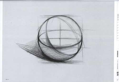 单个几何体结构素描范本
