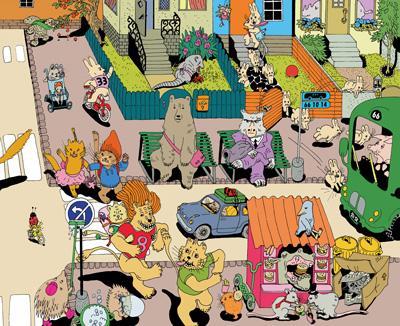 动物小镇系列——动物小镇的一天