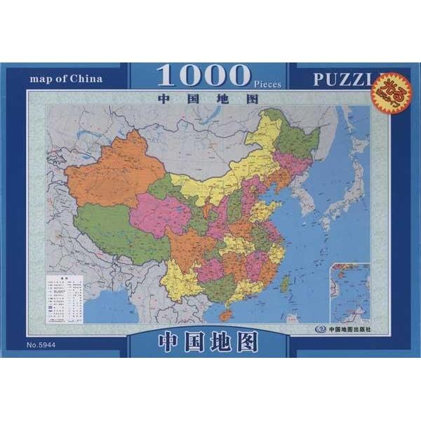 1000片夜光拼图系列.中国地图