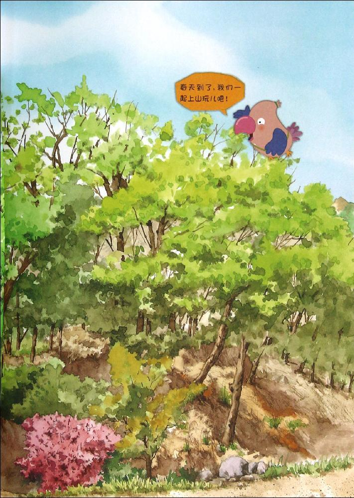 春天,一起去采野花  我的蒲公英花园  寻找春天美丽的花  谁的颜色