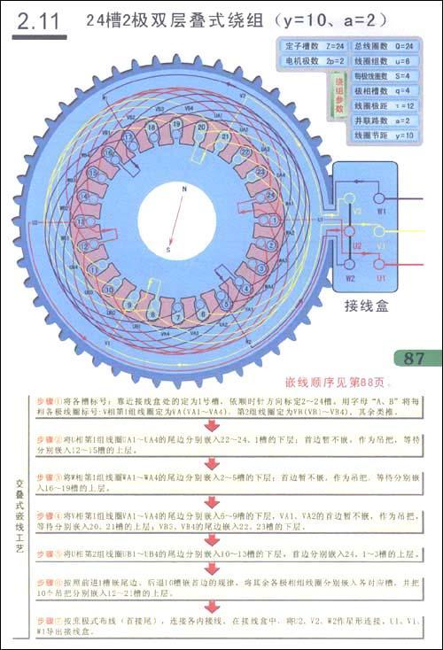 图解三相电动机绕组嵌线·布线·接线-孙洋-电工技