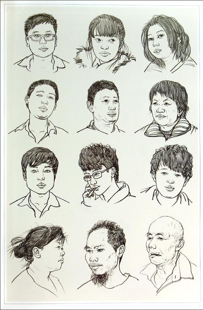 绘画人物五官比例