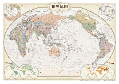 世界地图(仿古筒装)