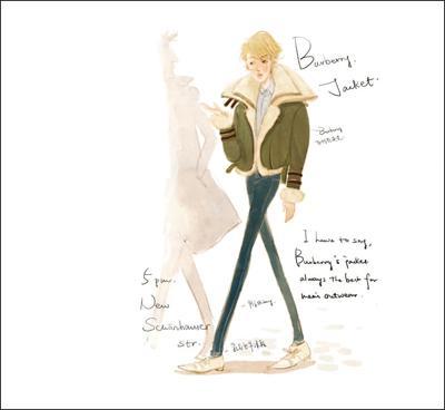 毛衣模特手绘图
