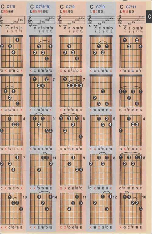 三弦常见符号表 36.月琴图片