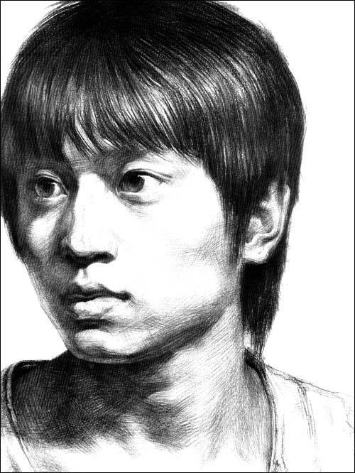 2009年出版高考素描头像《临摹**线》