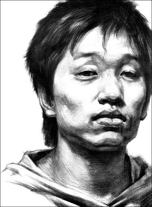 2009年出版高考素描头像《临摹第一线》