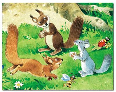 《森林里的鸟儿》 《野营地》 《森林里的小动物》 《野餐》 《森林