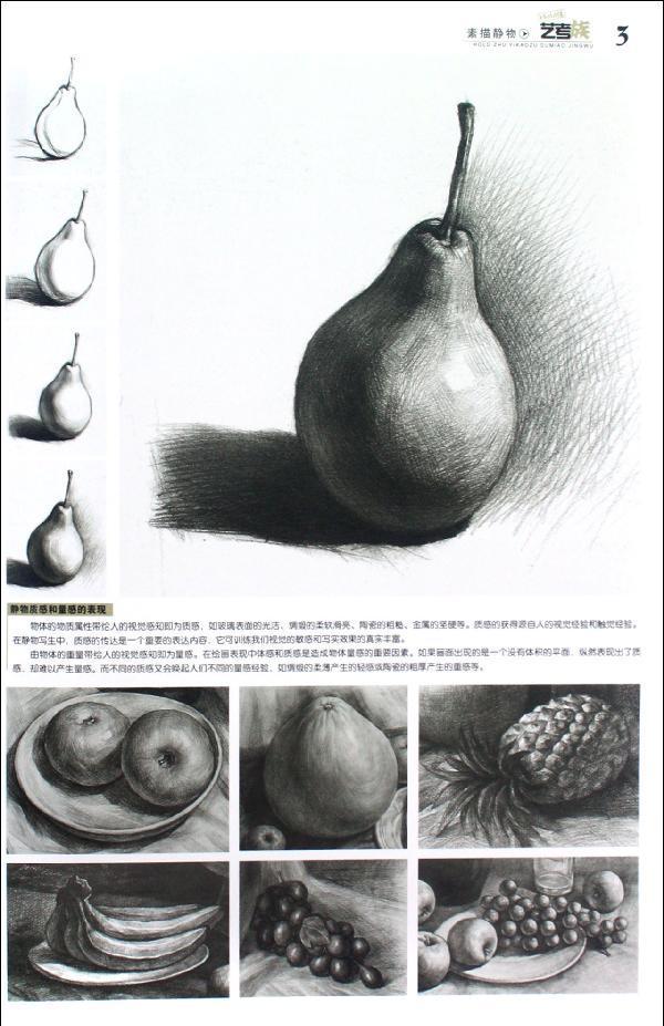 水果结构素描步骤