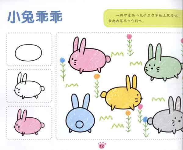 蘑菇伞 画大树 汉堡和饮料 动物气球 小兔乖乖 简笔画小人-动物气球 小