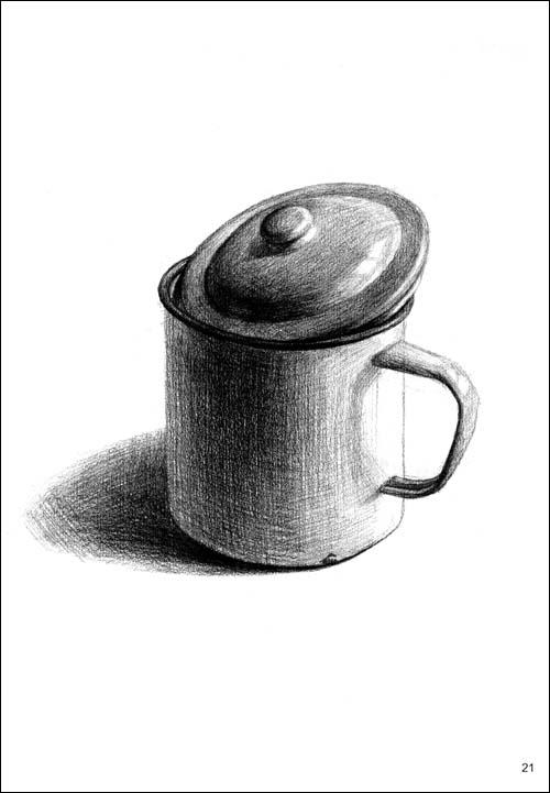 素描单个陶罐步骤