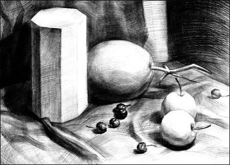 绘画速成记:组合素描静物-李忠祥-技法教程-文轩网