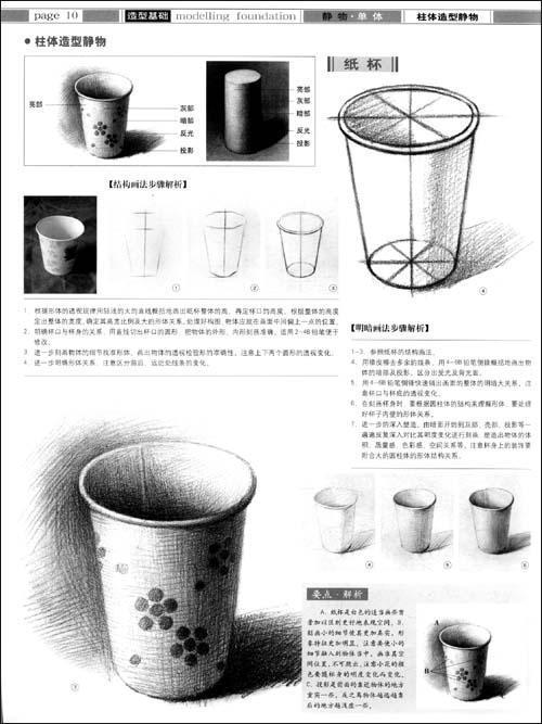 梨结构素描步骤图