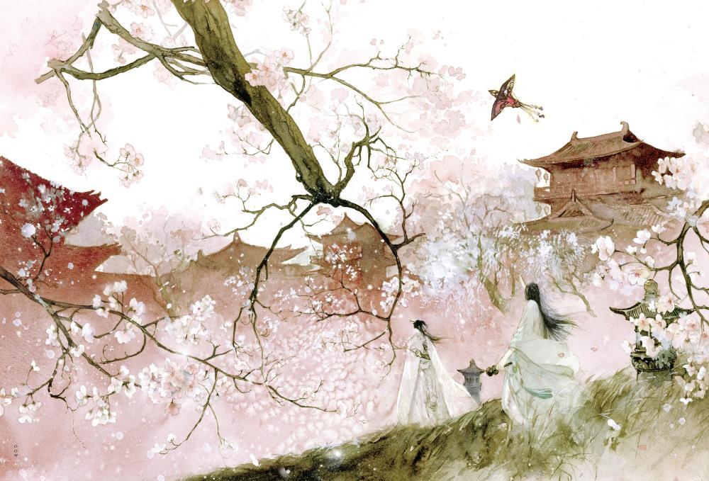 浮生若梦 唐卡古风插画集 唐卡绘 青春与动漫绘本娱乐 书籍