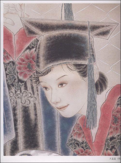 中国工笔画解析华彩溢香:重彩人物画法